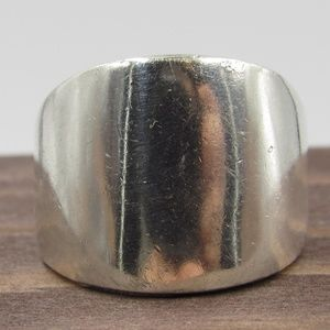 Size 8 Sterling Silver Thick Heavy Band Ring